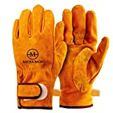 耐熱 牛革 手袋 耐久質高グローブ キャンプ 工事 BBQ 家電製品の修理用 裏付き吸汗や防寒手袋。アウトドア キャンプ用セット追加、耐熱焚き火シートナノガラス繊維と耐熱グローブ。ソロキャンプ6点セット