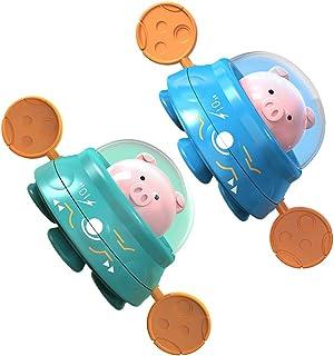 TOYANDONA 2pcs Baby Bath Toys Wind up Boat Pig Figure Clockwork Fun Educational Bath Toys Pool Bath Time for Kids Toddler ...