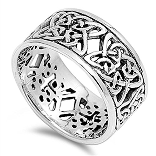 Women's Celtic Knot Eternity Fashion Ring .925 Sterling Silver Band Size 8