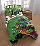 Teenage Mutant Ninja Turtles Full Comforter, Sheet Set, Bonus SHAM (6 Piece Bedding) + Bonus Fabric Shower Curtain