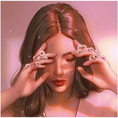 PPQXInng 5D Pintura Diamante DIY Retrato de Arte Cuadrado Bordado de Diamantes DIY con Incrustaciones de Diamantes decoración del hogar Regalo Nuevo producto-40x50cm sin Marco