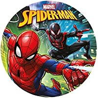 Dekora Spiderman 20 cm Disco de azúcar Comestible para Decorar Tartas, Multicolor, diámetro (1)