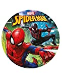Dekora-231273 Spiderman Disco de azúcar Comestible para Decorar Tartas, Multicolor, 20 cm de diámetro (231273)