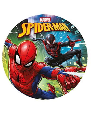 Generique - Kuchenzuckerplatte Spiderman 20 cm