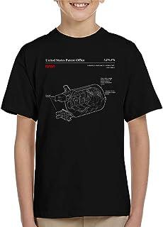 NASA European Research Laboratory Columbus Blueprint Kid's T-Shirt