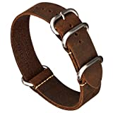 Best Nato Straps - Benchmark Basics Leather Watch Band - Zulu Crazy Review