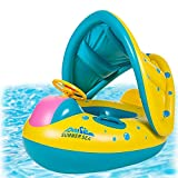 Image: Punada Baby Pool Float with Canopy Inflatable Swimming Floats for Kids