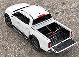 Cubierta de espacio de carga Roll Cap mate con rejilla de separación y cierre centralizado Set para Mercedes Clase X Double Cab en plata a partir del año de construcción 2017