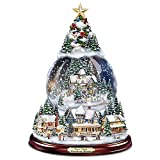 Pegatinas de ventana Árbol de Navidad Escultura giratoria Decoraciones de tren Pegar Pegatinas de pasta de ventana Decoraciones navideñas Decoración del hogar de invierno 20x30cm
