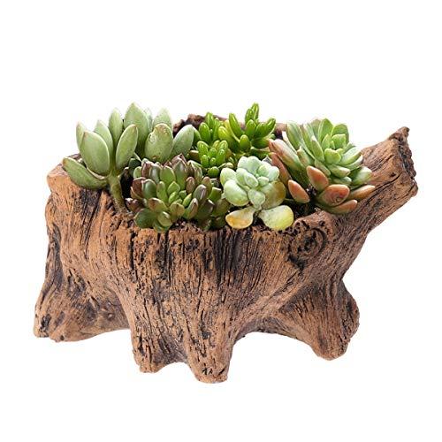 TOYANDONA - Vaso per Piante grasse in Legno, per Interni, Esterni, casa, Giardino, Patio, Decorazione
