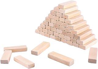 B Baosity 約50個 木製 長方形 ブロック 工芸品 DIY ホビー用素材
