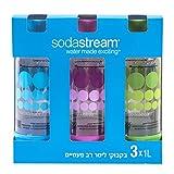SodaStream 1 Liter x 3 Pack PET-Flaschen blau/grün / lila 2015