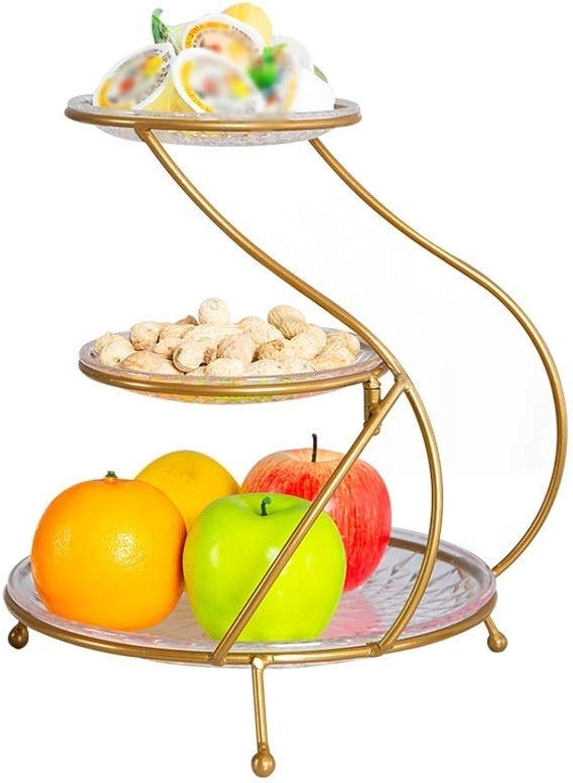 HYZSGP Coupe De Fruits en Verre à Trois Couches, Support à Dessert Plateau De Fruits Moderne