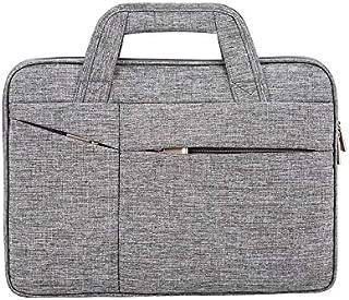 Yuanzengjunfva Computer Bag Oxford Cloth Handbag Simple Fashion Men and Women Business Briefcase Bag (Color : Grey, Size : 16 inches)