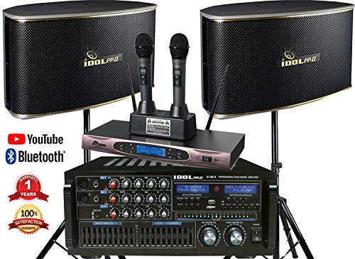 IDOLpro 1400Watts Professional Karaoke Mixing Amplifier With...