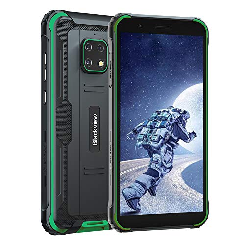 Blackview BV4900 Outdoor Smartphone Ohne Vertrag (Android 10, 5580mAh Akku, 32 GB interner Speicher, 3GB RAM, 5.7 Zoll HD+ Display, Dual SIM, NFC) - Exklusive Blackview IP68 Wasserdicht Handy Grün