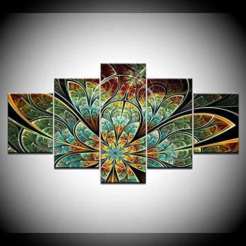 Preisvergleich Produktbild DAIZHJ Modulare Leinwand Malerei HD Gedruckt Blumenmuster Abstrakte Poster Bild Home Decoration Wohnzimmer Wandkunst
