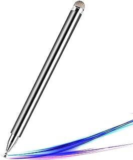 RHESHINE タッチペン スタイラスペン ディスクタッチペン ディスク+導電繊維 2in1 iPad/iPhone/Android対応 スマートフォン タブレット スマホ デジタルペン イパッドペン 絵描き イラスト ゲーム 高感度 ペン先...