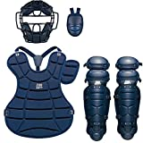 ゼット(ZETT) 軟式 キャッチャー防具(キャッチャー用プロテクター) 4点セット ネイビー(2900A) BL302SET 野球