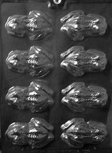Cybrtrayd Life of the Party A126 Frog Chocolate Candy Mold in Sealed Protective Poly Bag Imprinted with Copyrighted Cybrtrayd Molding Instruction
