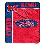 NORTHWEST NCAA Mississippi Old Miss Rebels Raschel Throw Blanket, 50' x 60', School Spirit