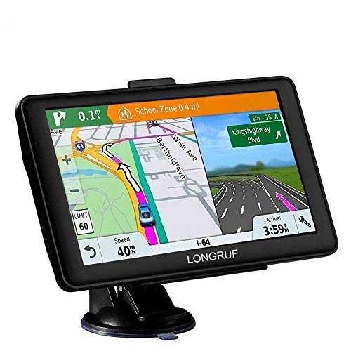 car GPS 7 inch Touch Screen Voice Prompt GPS Navigation Built-in 8GB No Need to Insert a Card+Multi-Media and FM for Car with Lifetime Maps