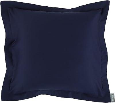 Bassetti Housse de Coussin uni 1321 Bleu Marine 40 x 80 cm