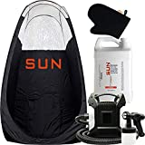 Sun Laboratories Sunless Spray Tan Machine - At Home Airbrush Tanning System with Tent, 1 Gallon Solution + Mitt
