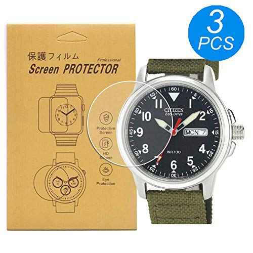 [3-Pcs] for Citizen BM8180-03E Watch Screen Protector, Full Coverage Screen Protector for BM8180 HD Clear Anti-Bubble and Anti-Scratch