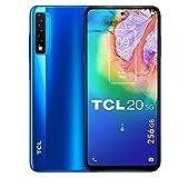 TCL 20 5G 256GB - Smartphone de 6.67' FHD+ con NXTVISION (Qualcomm 690 5G, 6GB/256GB Ampliable MicroSD, Dual SIM, Cámaras 48MP+8MP+2MP, Batería 4500mAh, Android 10 actualizable) Azul
