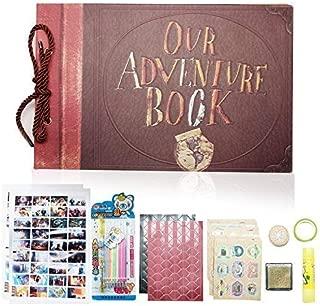 XIDUOBAO Our Adventure Photo Album, Retro Album Anniversary Scrapbook DIY Travel Wedding Album
