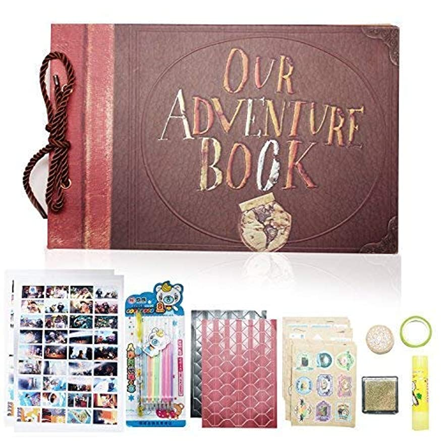 XIDUOBAO Our Adventure Photo Album, Retro Album Anniversary Scrapbook DIY Travel Wedding Album?