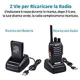 Zoom IMG-2 esynic paio walkie talkie ricaricabile