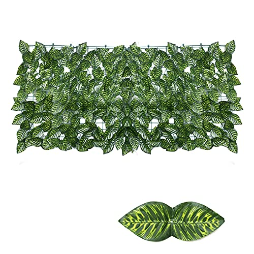 Jarome Hojas de Hierba Artificial Paneles de Pared Ivy Privacidad Cerca de...