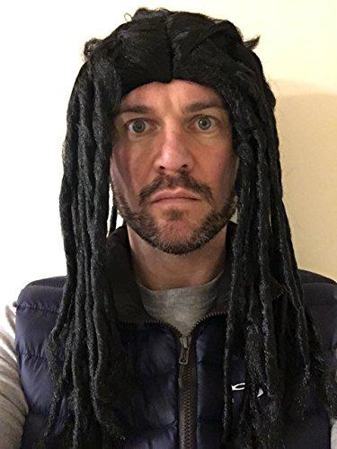 Rubber Johnnies TM Rasta Perruque Reggae Marley Dreadlocks Déguisement Perruques Fête