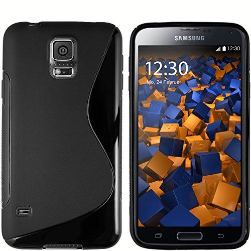 mumbi Hülle kompatibel mit Samsung Galaxy S5 / S5 Neo Handy Hülle Handyhülle, schwarz