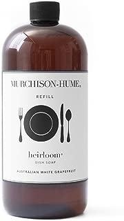 Murchison-Hume Heirloom Natural Dish Soap Refill - Dishwashing Liquid Detergent, Australian White Grapefruit, 32 Oz