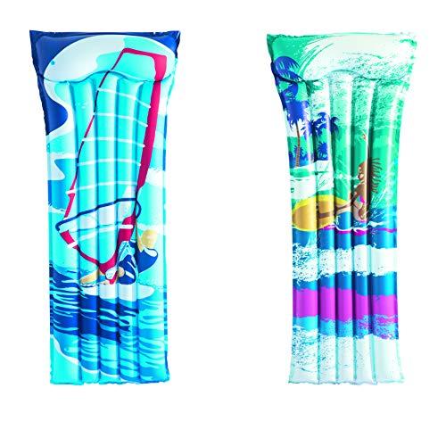 Bestway 44021 pool & beach float - flotadores para piscina y playa (Colchón flotante, Multicolor, Vinilo, 760 x 1830 mm, Bolsa de polietileno con encarte)