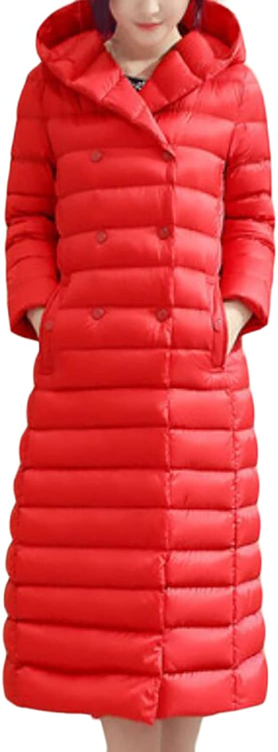 XQS Womens Winter Lightweight Quilted Hooded Puffer Down Coat Jacket