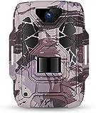 TMEZON Cámara de caza 1080P Full HD, 12 MP, gran angular, visión infrarroja, 20 m, visión nocturna impermeable IP66, cámara de vigilancia para caza y observación de animales, tarjeta SD de 32 GB