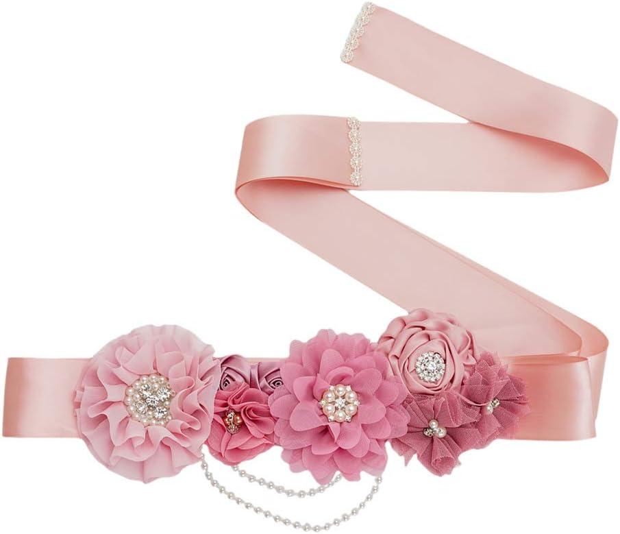 LUOZZY Rhinestone Decorated Sales for sale Girdle Wedding mart Dre Belt Waist Bridal