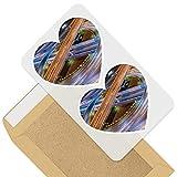Impresionante 2 pegatinas de corazón de 7,5 cm – Expressway Autoway Tailandia Road Fun calcomanías para portátiles, tabletas, equipaje, libros de chatarra, frigorífico, regalo genial #44988