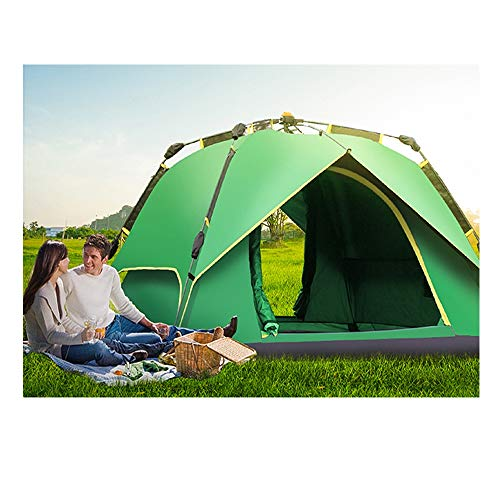 LIUSIYU Automatique Pop Up 2-3-4 Personne Tente 4 Saison Anti-UV Imperméable Coupe-Vent Ultralight Camping en Plein Air Dôme Tente with Sac De Transport