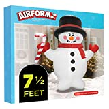 AIRFORMZ 7.5' Tall Snowman, LED Lights, Christmas Inflatables, Outdoor Decorations, Inflatable Yard Decoration