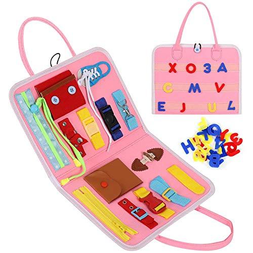 Busy Board, Montessori Sensorikspielzeug Für Kleinkinder, Montessori Basic Skills Activity Board Für Feinmotorik Und Dressing Skills, Vorschulpädagogisches Lernspielzeug Für Jungen Mädchen