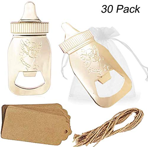 Amajoy 30 Pack Poppin Baby Bottle Shaped Bottle Opener Baby Shower Favor 1st Birthday Gifts for Guest Wedding Favor Party Favor Party Decoration