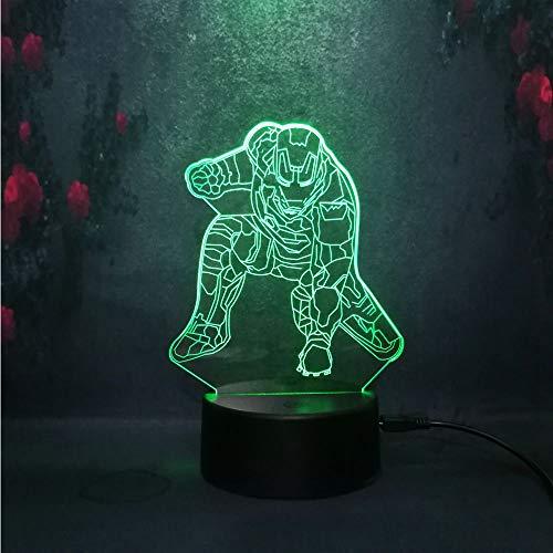 Nur 1 Stück Kid Halloween Geschenk 3D Nachtlicht Lava Lampe Go LED Schreibtisch Tischdekoration Baby Creative