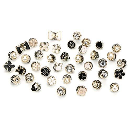 Longsing 40 Stücke Damenhemd Broschen Pin Anti-Licht Kleine Brosche Sicherheitsbrosche für Kleidung Kleid Lieferungen
