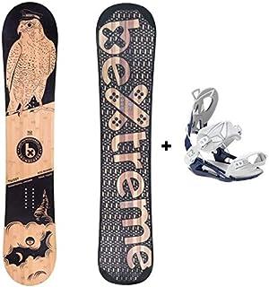 Bextreme Tabla Snowboard Freestyle y Freeride Twist 2020 con Fijaciones SP Private. Eco-Board Hecha de Bambu, Haya y álamo. Medidas 152, 157 y 160cm Wide. Snow para Hombre y Mujer