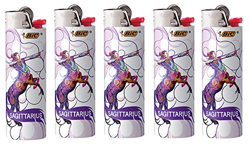 BIC Horoscope Lighters Sagittarius 5 Pack Collectable Design